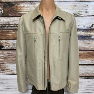Hugo Boss Men's Tan Jacket Size 42 R Zip Front